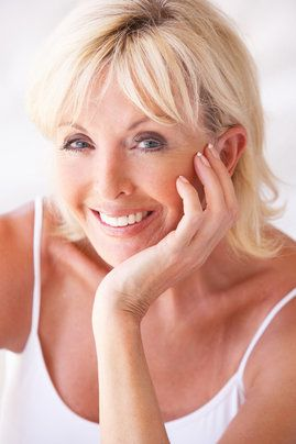 An older blonde woman with a great smile