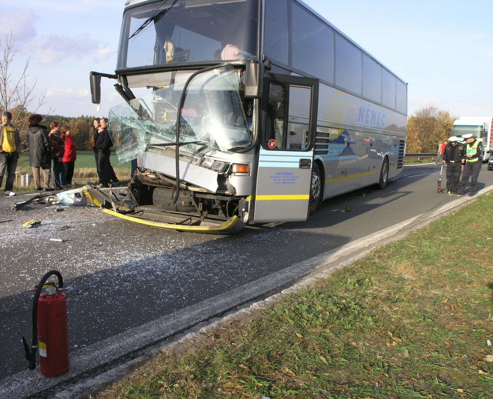 The aftermath of a serious bus accident