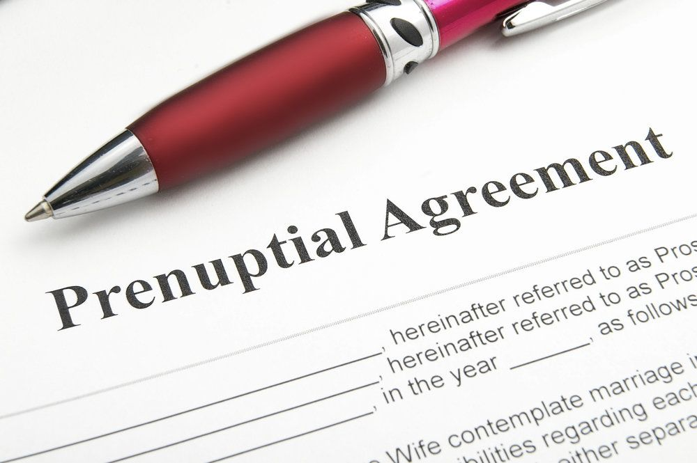 A prenuptial agreement