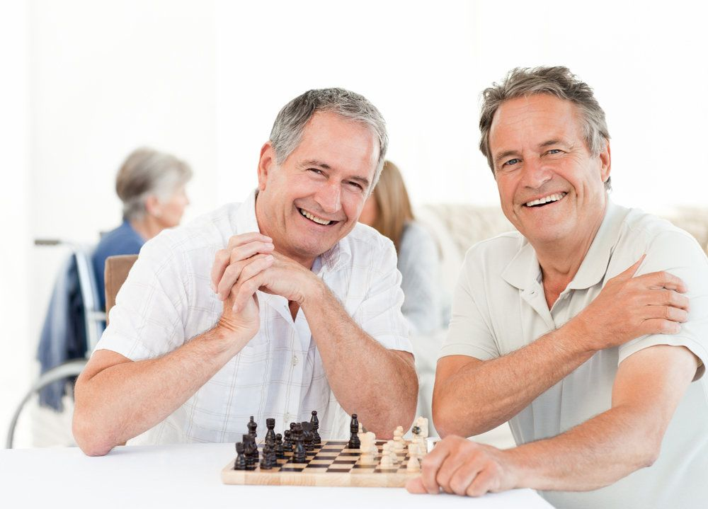 To older men playing chess