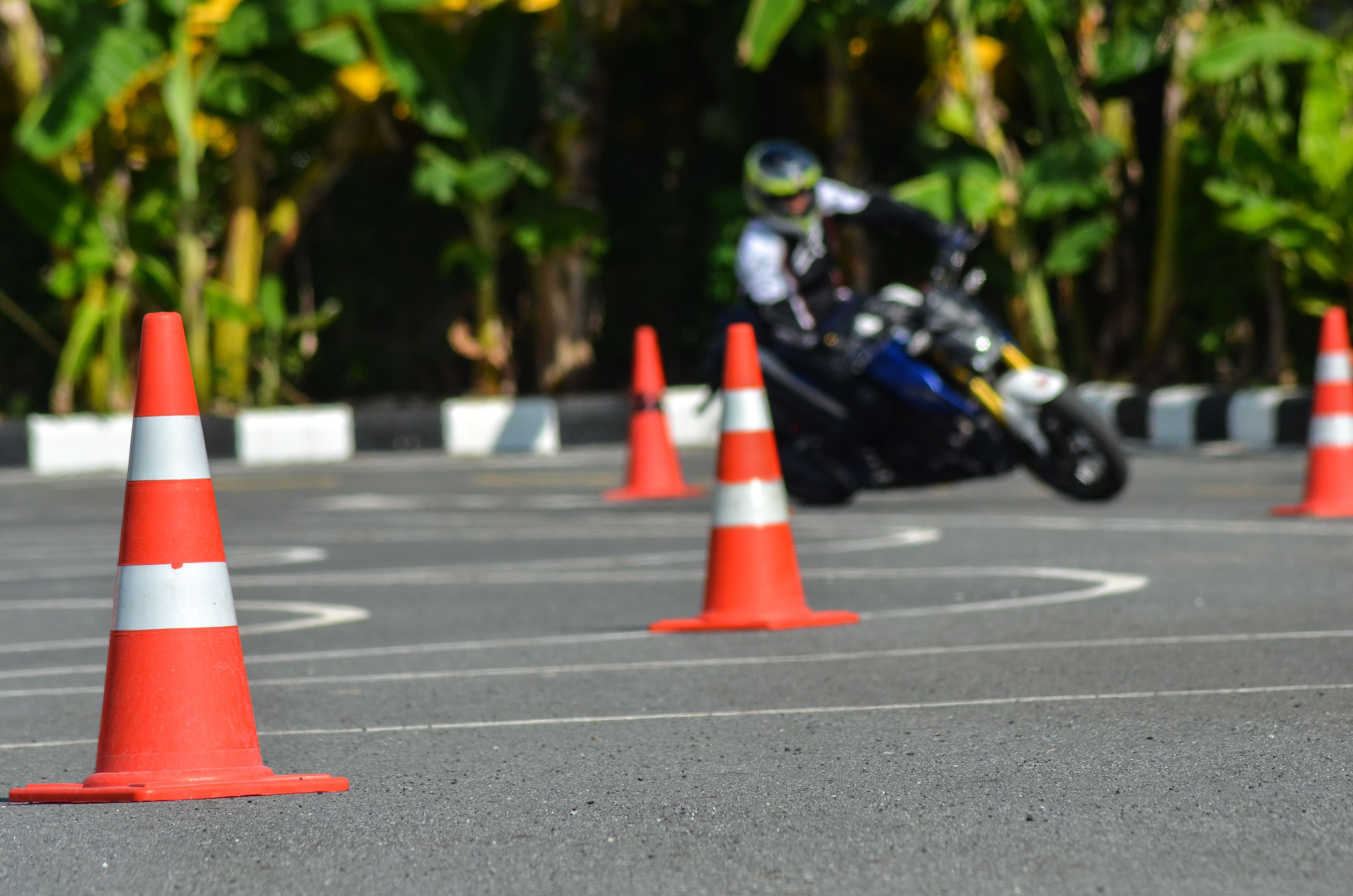 Motorcyclist on course