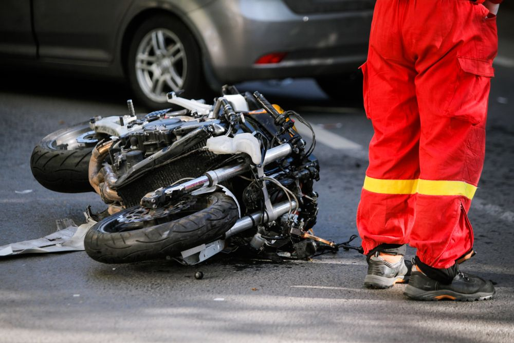 Aftermath of a motorcycle accident