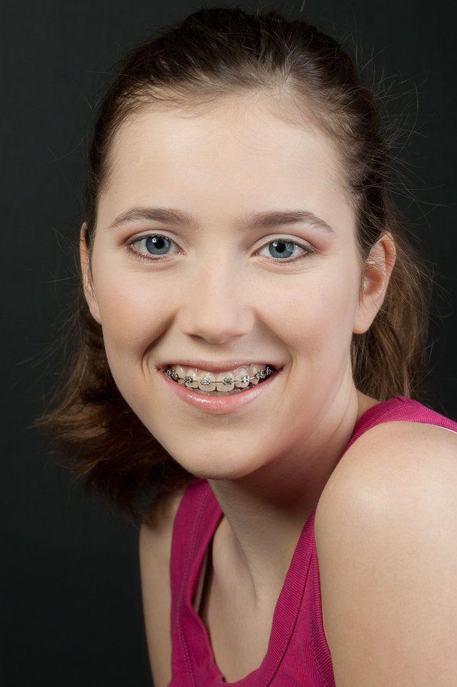 A girl wearing braces