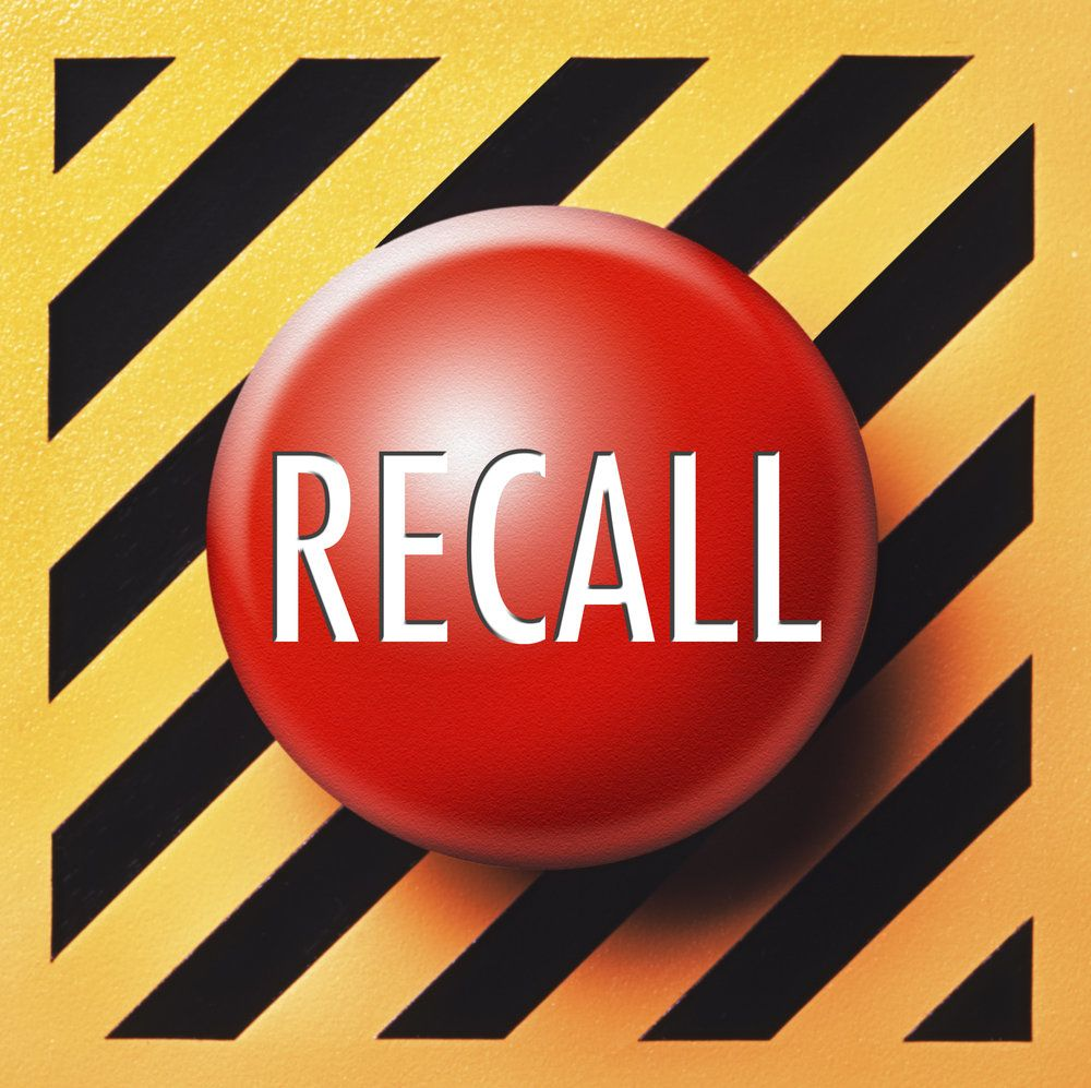 A recall label