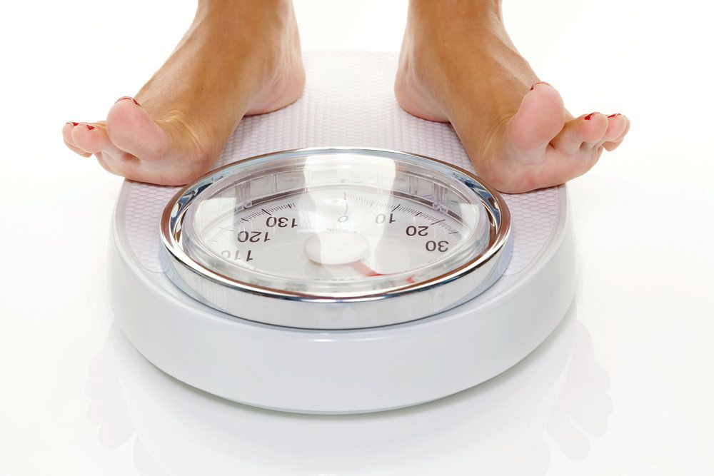 Checking weight on a scale