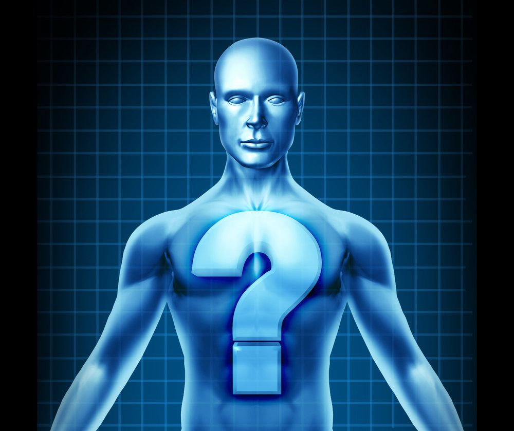 An illustration of a man with a question mark over his chest, indicating the failure to diagnose a disease