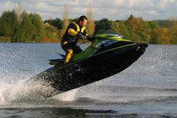A man riding a jet ski