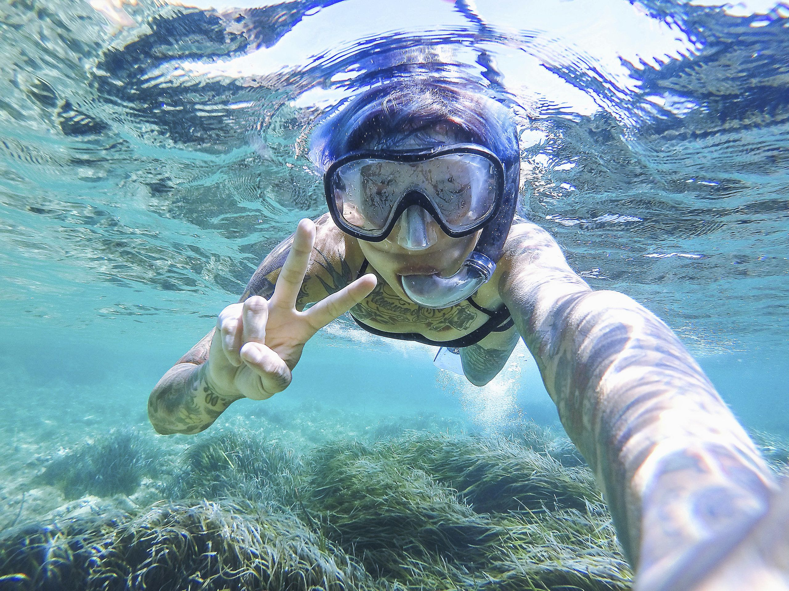 Snorkeling in the summer