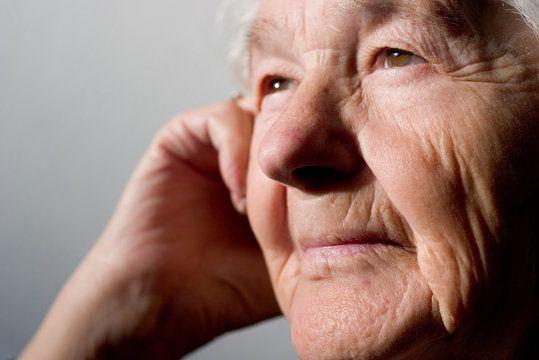 Close up of older man