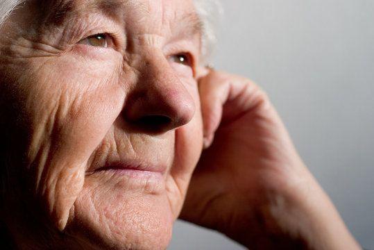 Senior Woman Close Up, Looking Off Camera