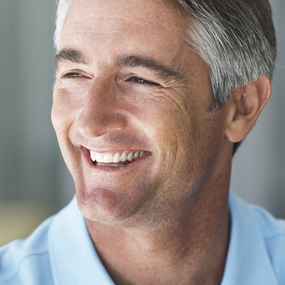 Man with a healthy, attractive smile