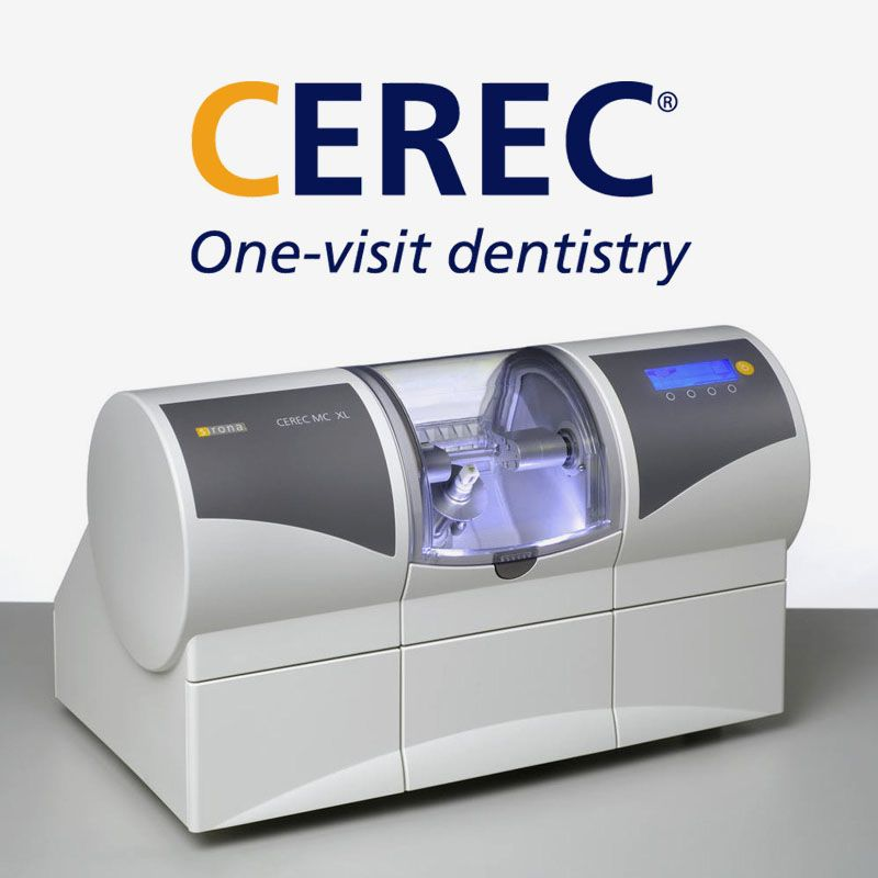Marketing image of CEREC® technology.