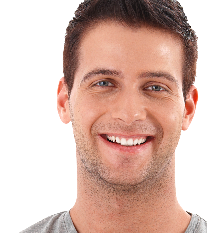 Male with a healthy, attractive smile