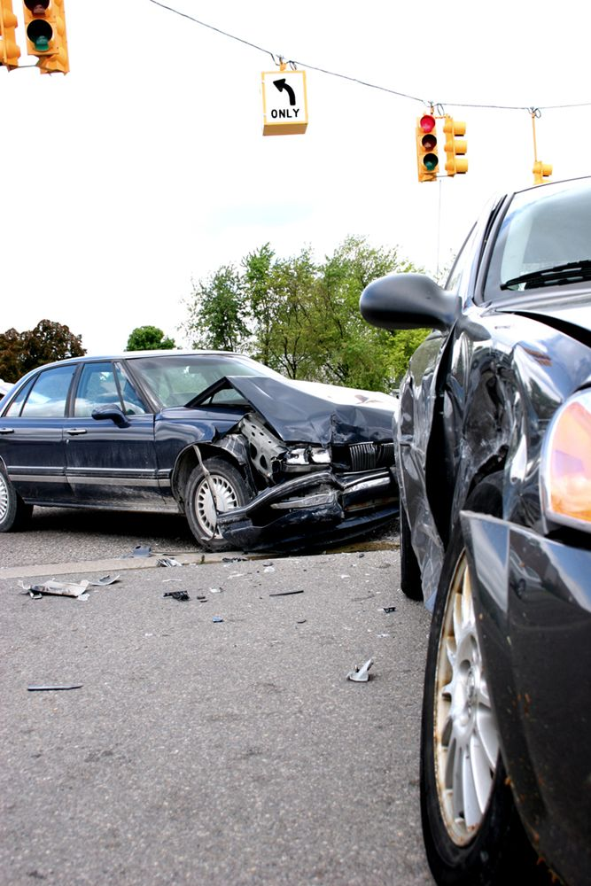 A rear-end auto accident