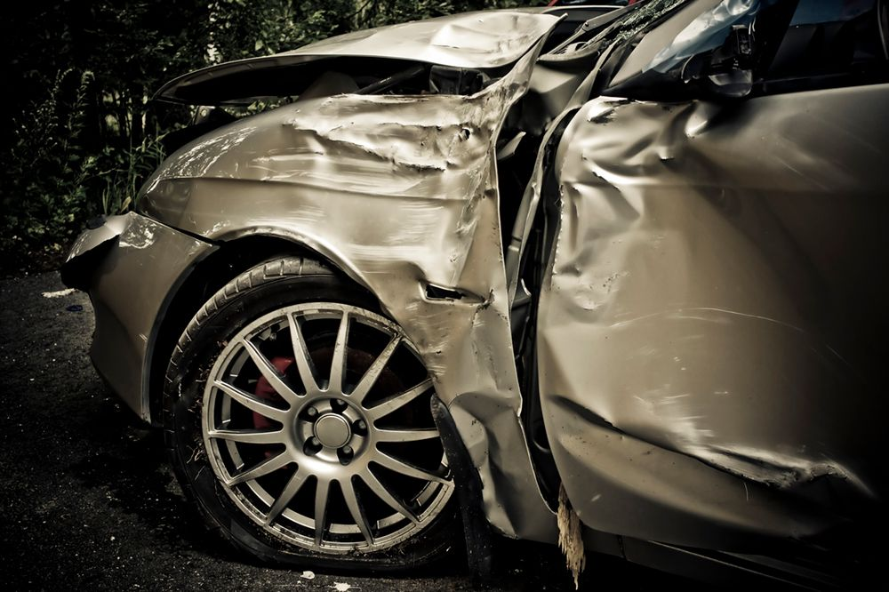 Car damaged in auto accident