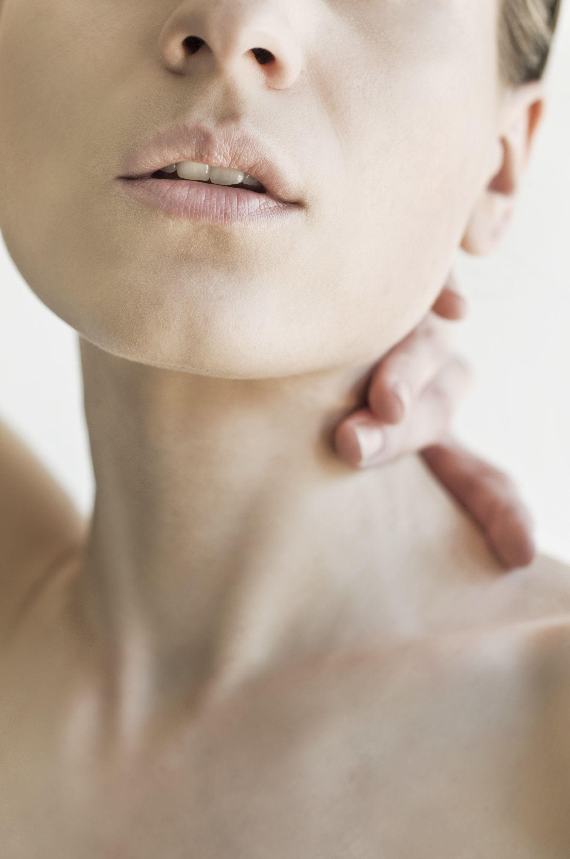 A woman's neckline