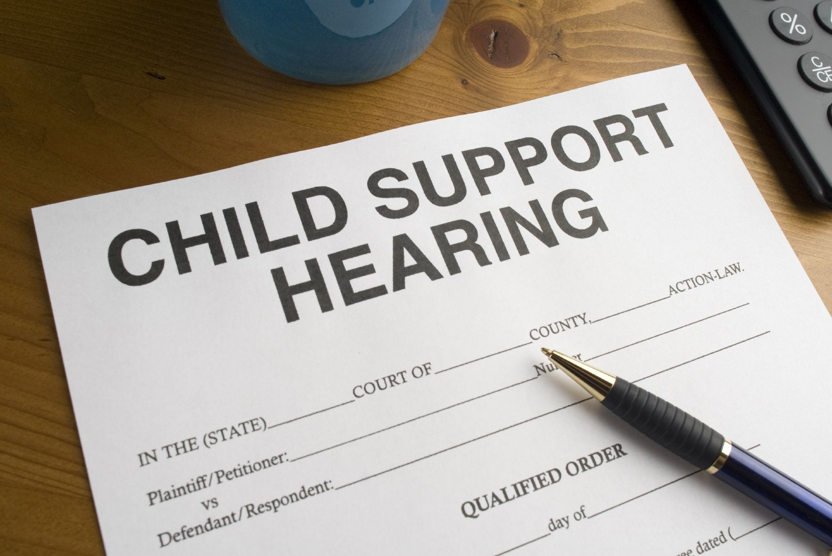 Child support hearing form