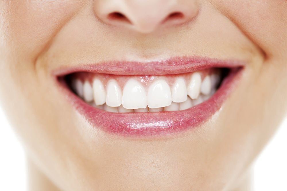 Close-up of a healthy, gap-free smile