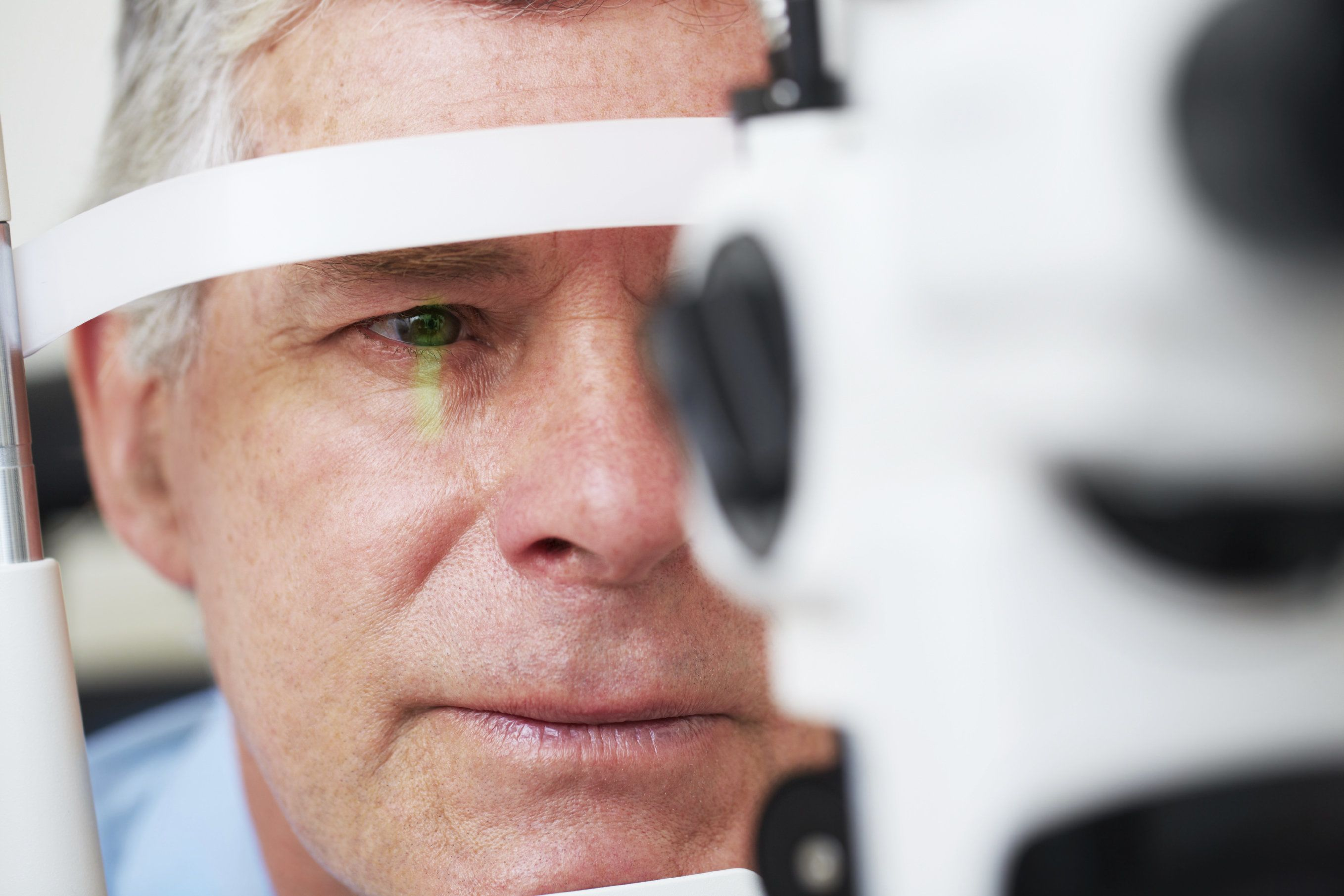 A man undergoing an eye exam