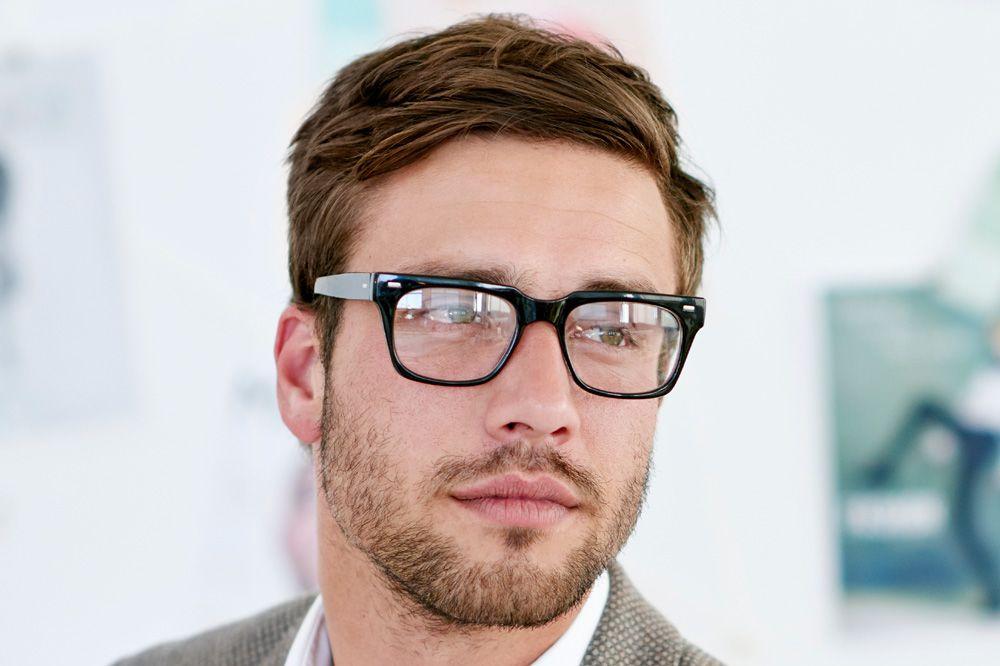 Male wearing glasses