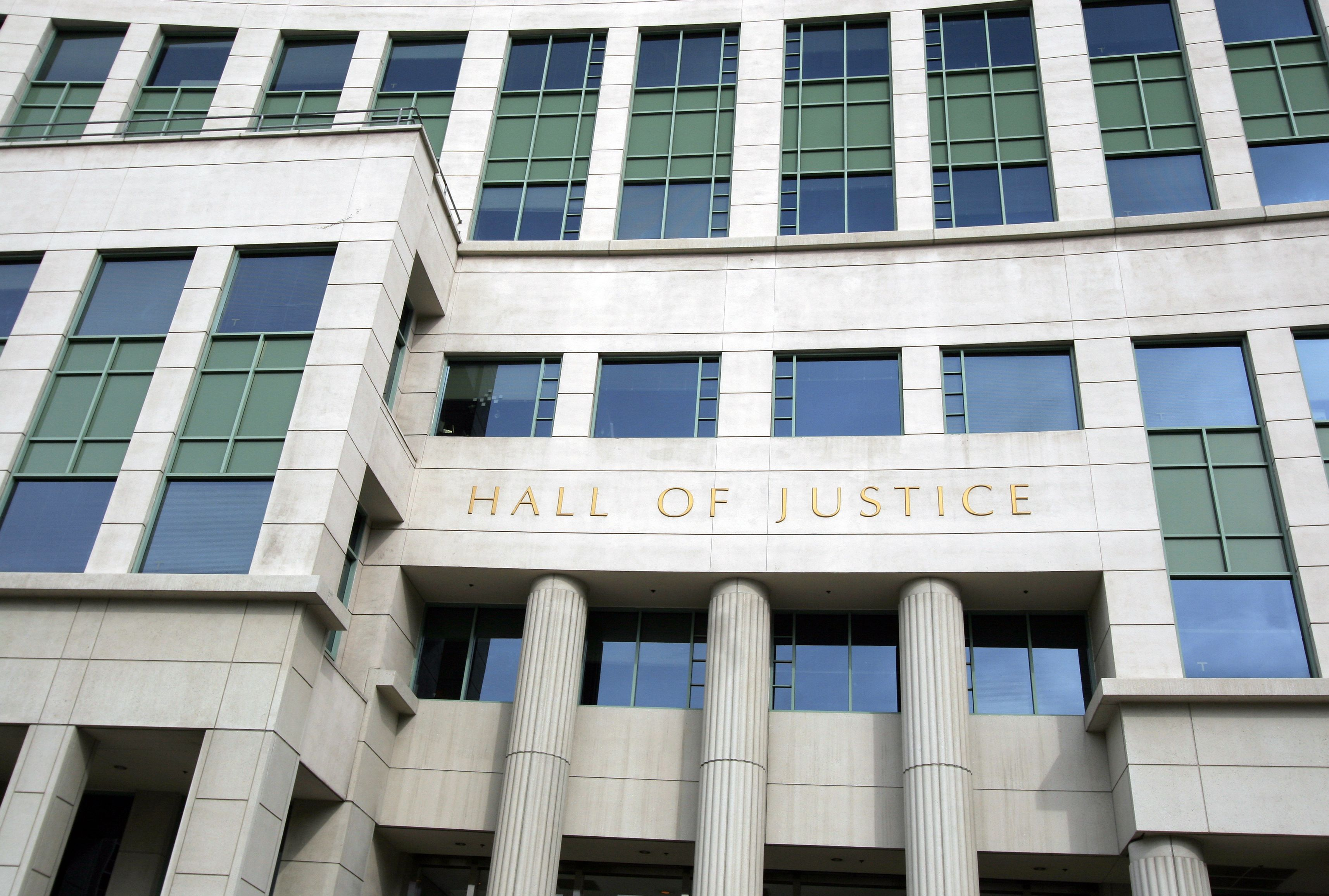 The hall of justice building