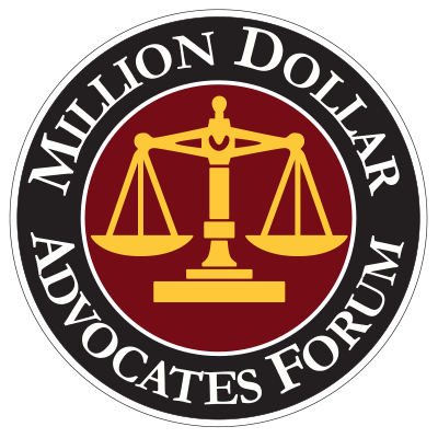 Million dollar advocates form logo