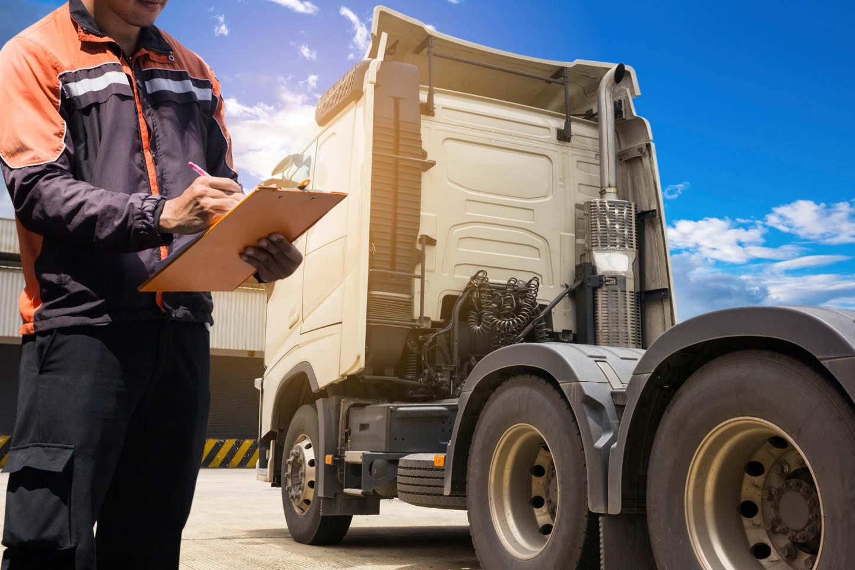 Semi-truck vehicle maintenance