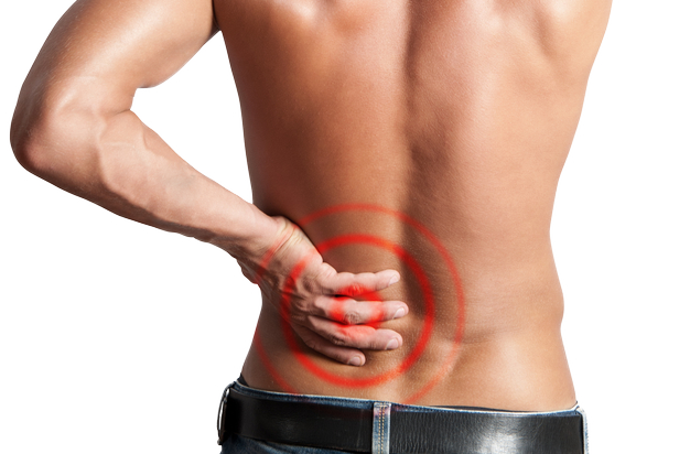A man with lower back pain