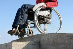 A man in a wheelchair