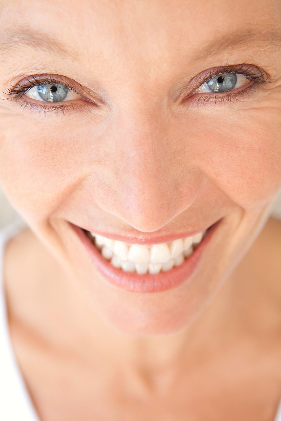 Woman close up smile