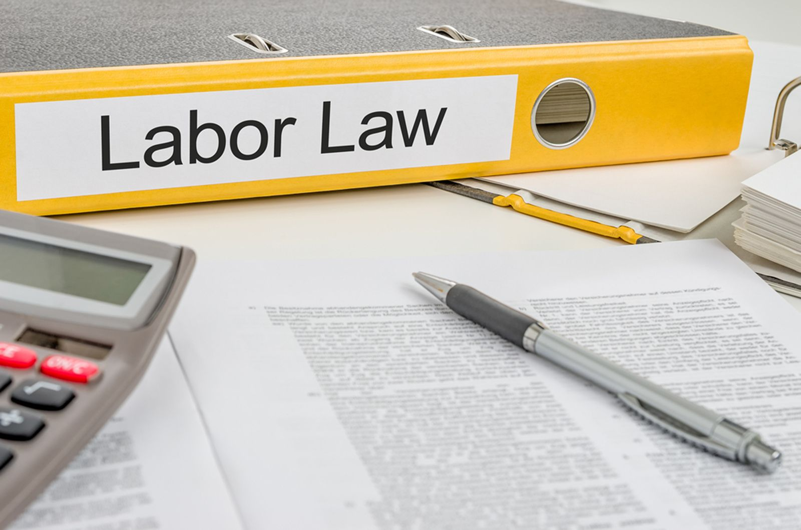 A binder on labor law issues