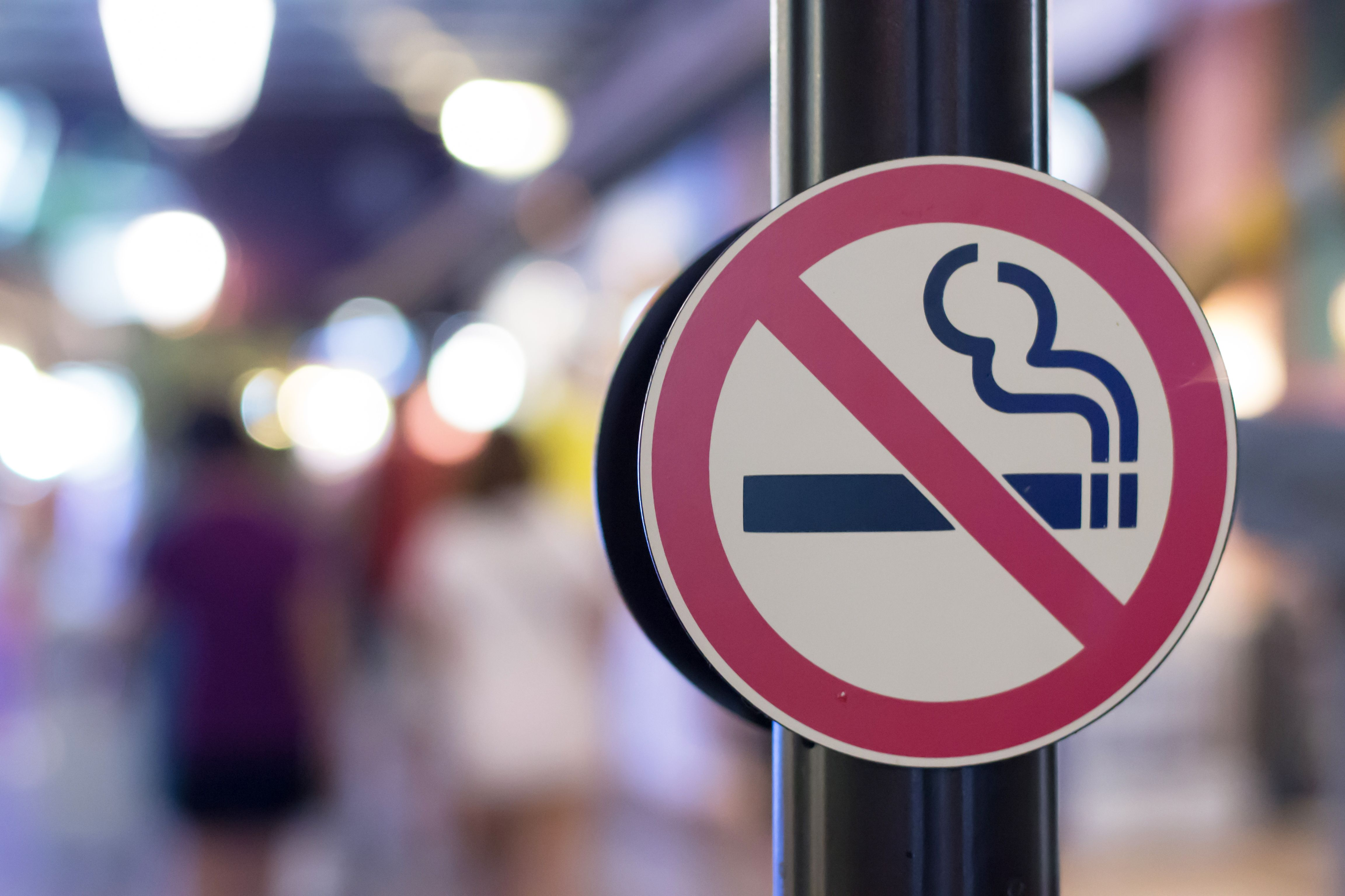 "A ""no smoking"" sign"