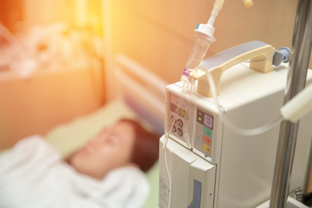 Patient under the effects of anesthesia