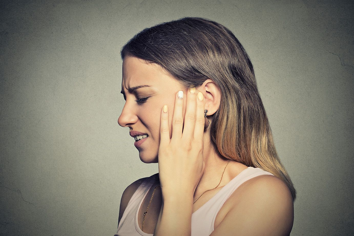Pain from TMJ disorder
