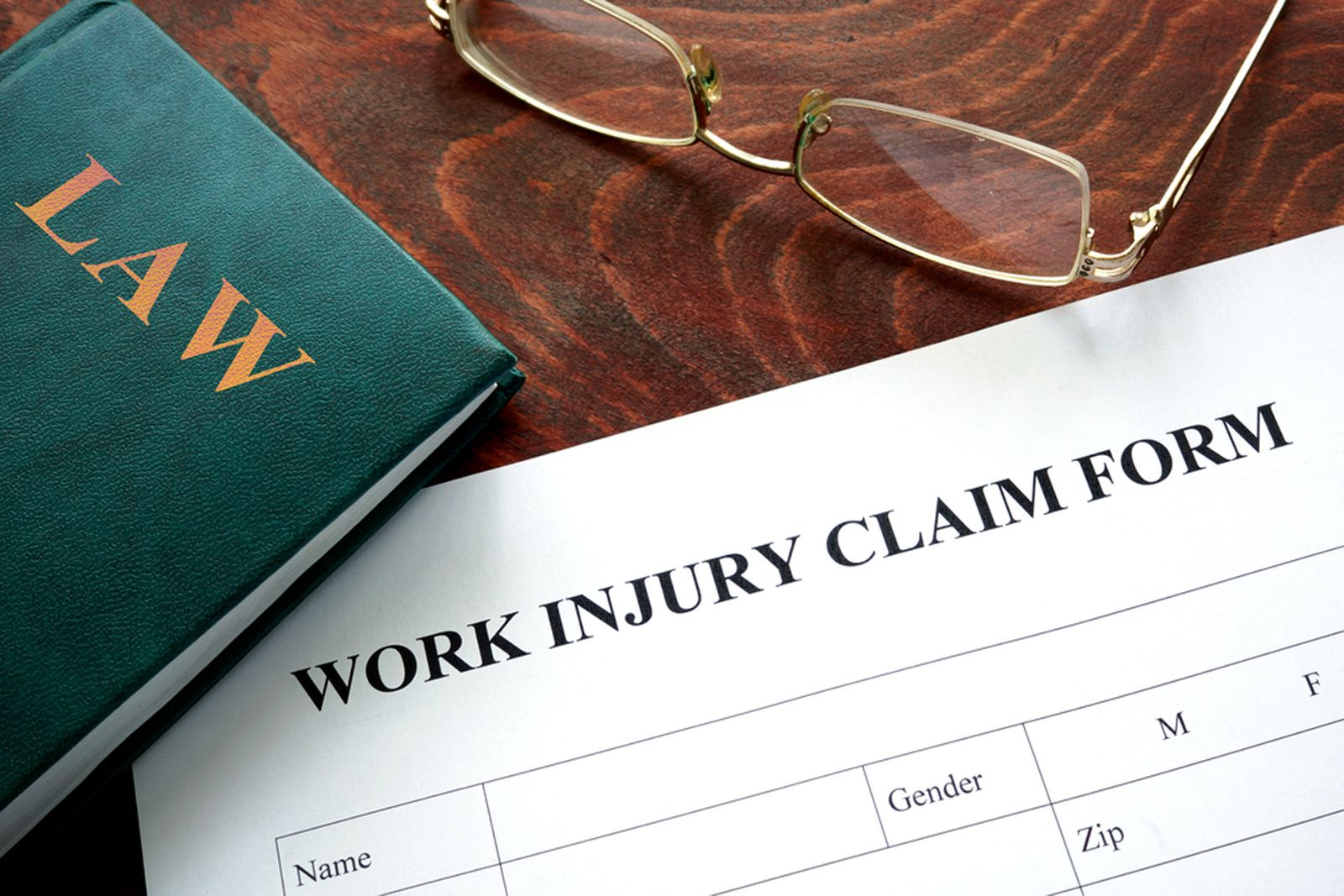 A work injury claim form