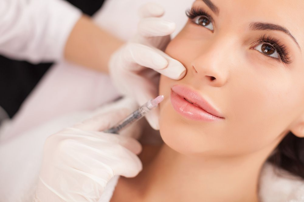 Female patient receiving BOTOX® injections