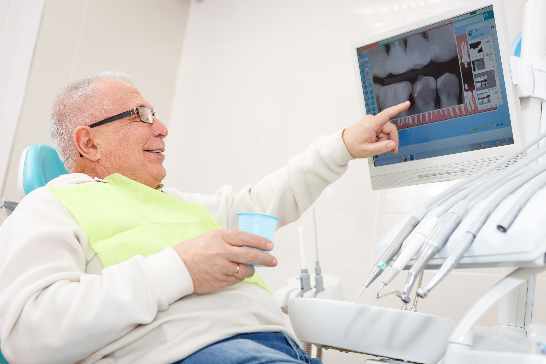 Senior dental patient