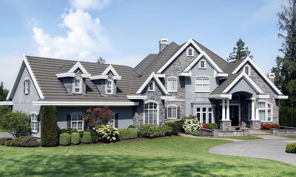 A very large suburban house