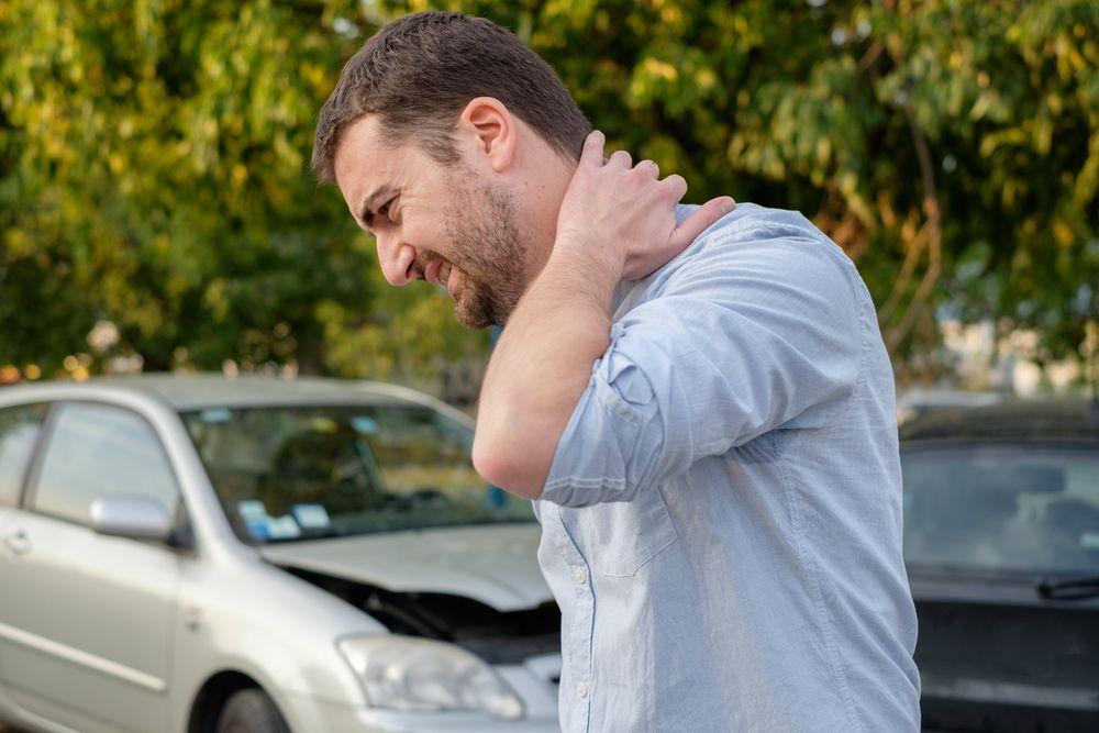 Neck pain after a car crash