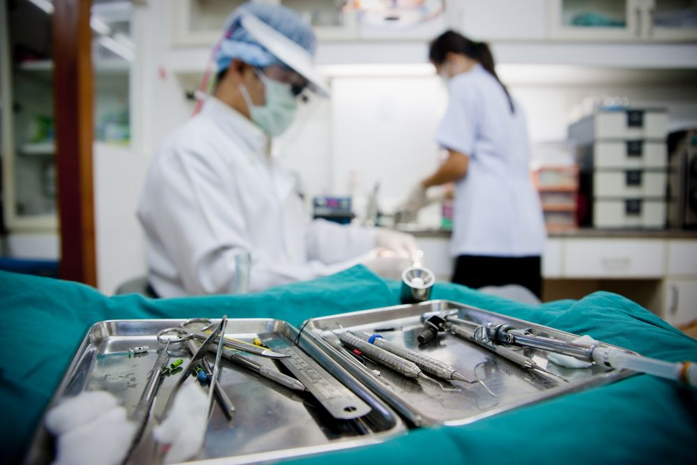 Surgery in an operating room