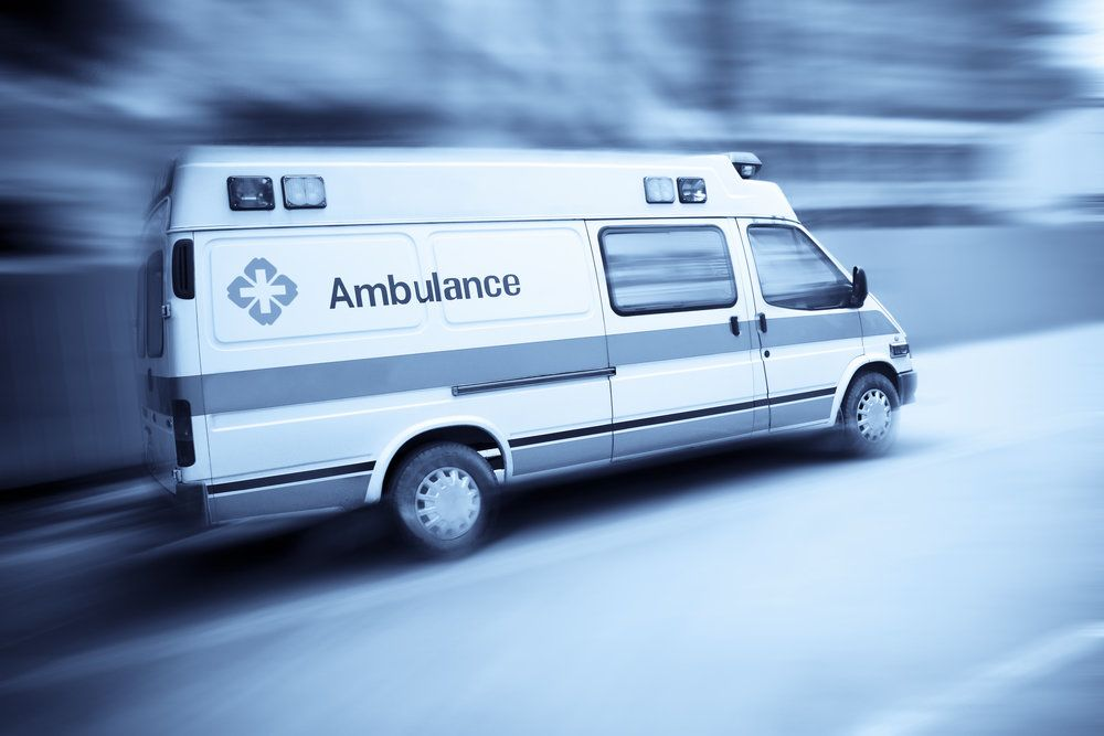 An ambulance after an emergency