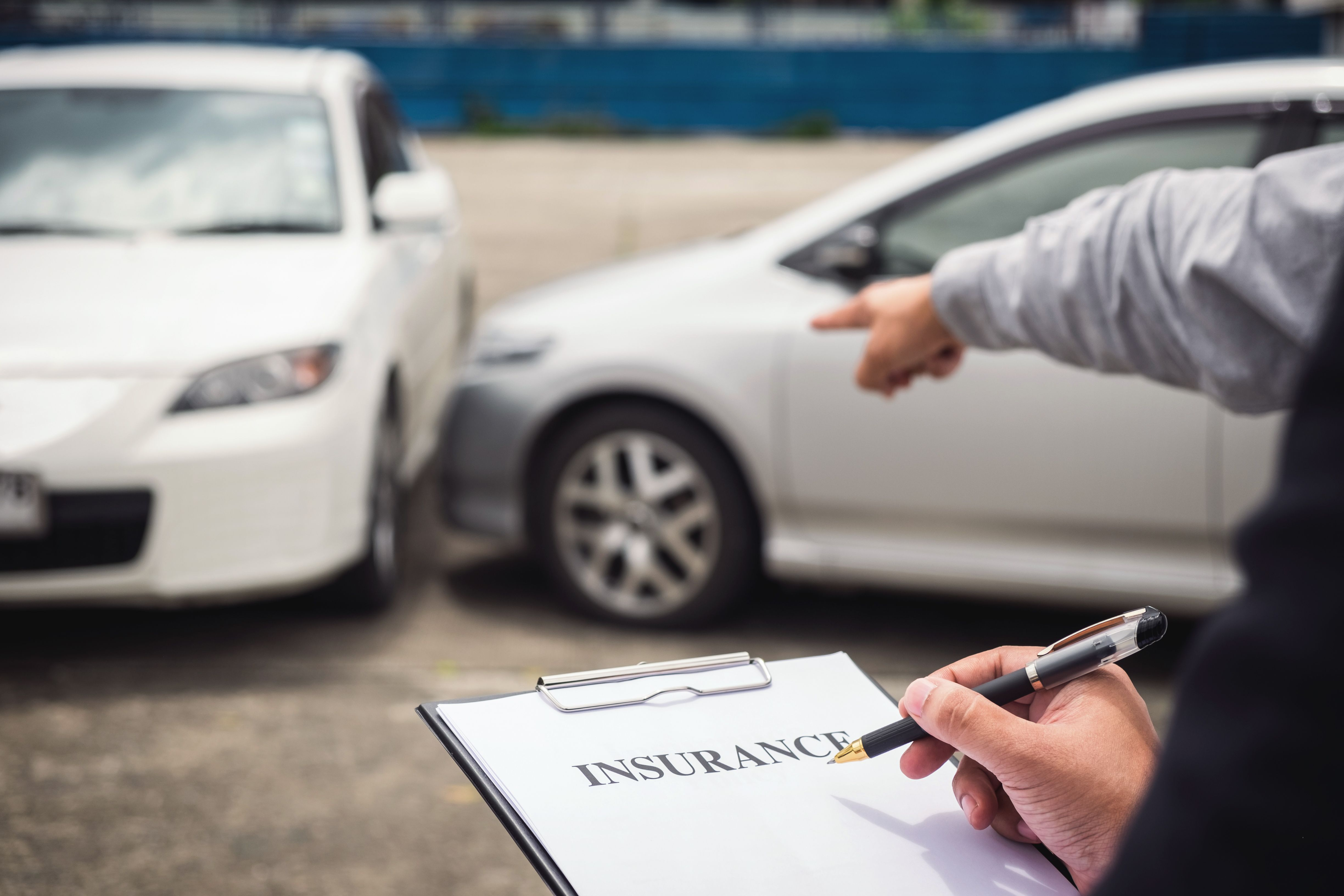 Insurance review of a car accident