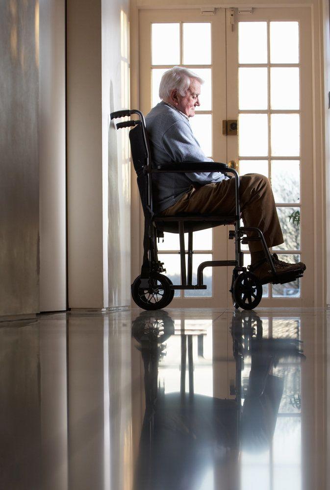 Elder man in a wheelchair